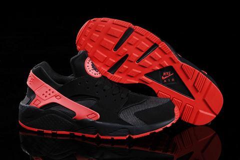 Nike Huarache Noir Et Rose Fluo